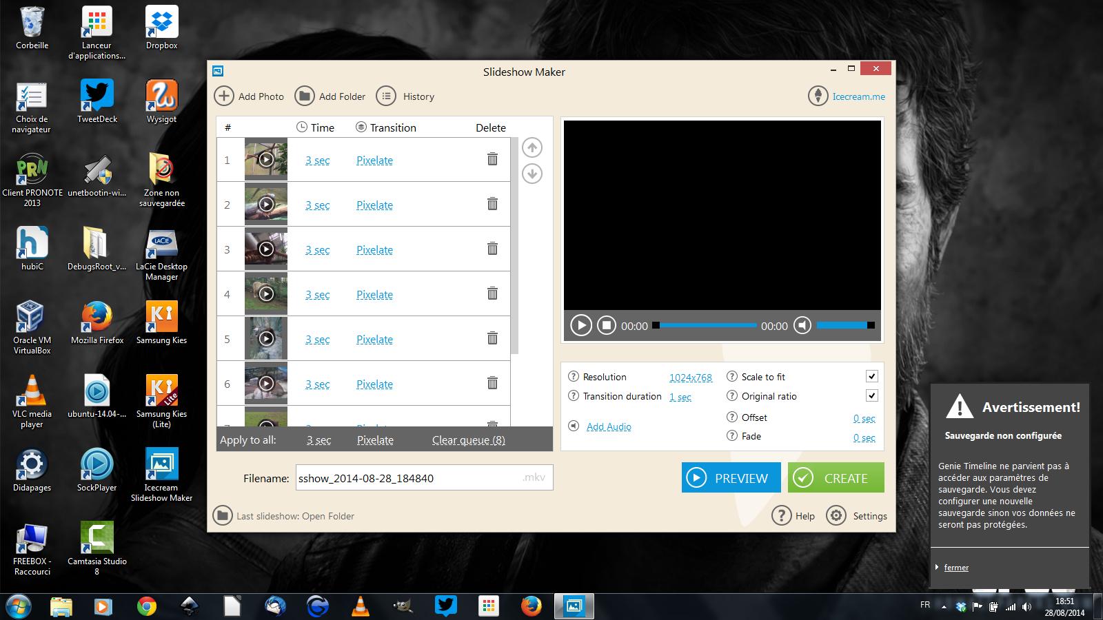 Icecream Slideshow maker: vos images en diaporama vidéo avec musique en deux clics et gratuitement (windows)