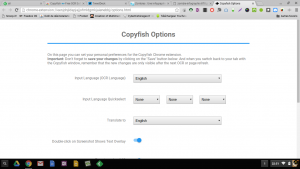 copyfish options