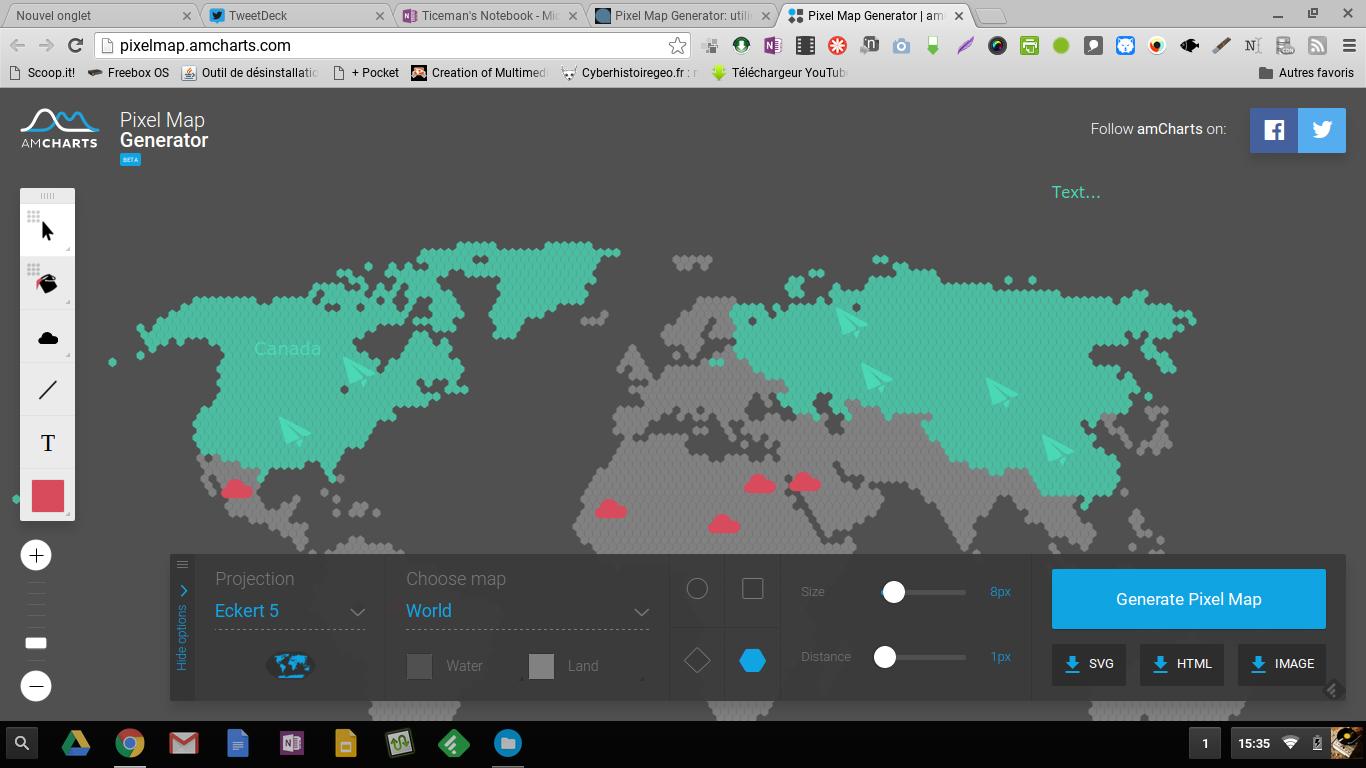 Ticeman Trois Pixelmap Cartes Mouvements Deux Géographiques Generator Coutelas Créer Temps Vos – De Le En