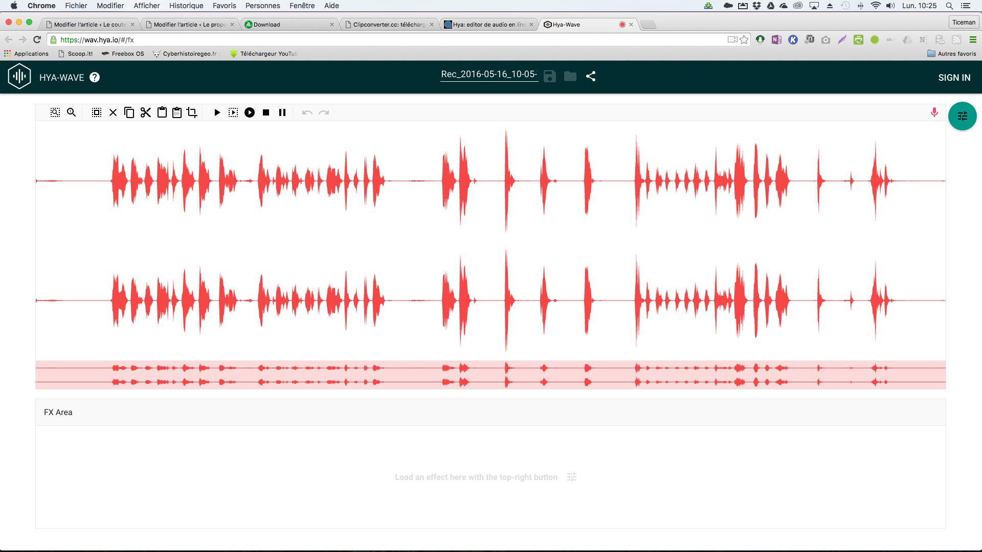 Hya wave un diteur audio simplifi en ligne le coutelas de ticeman - Couper un fichier audio en ligne ...