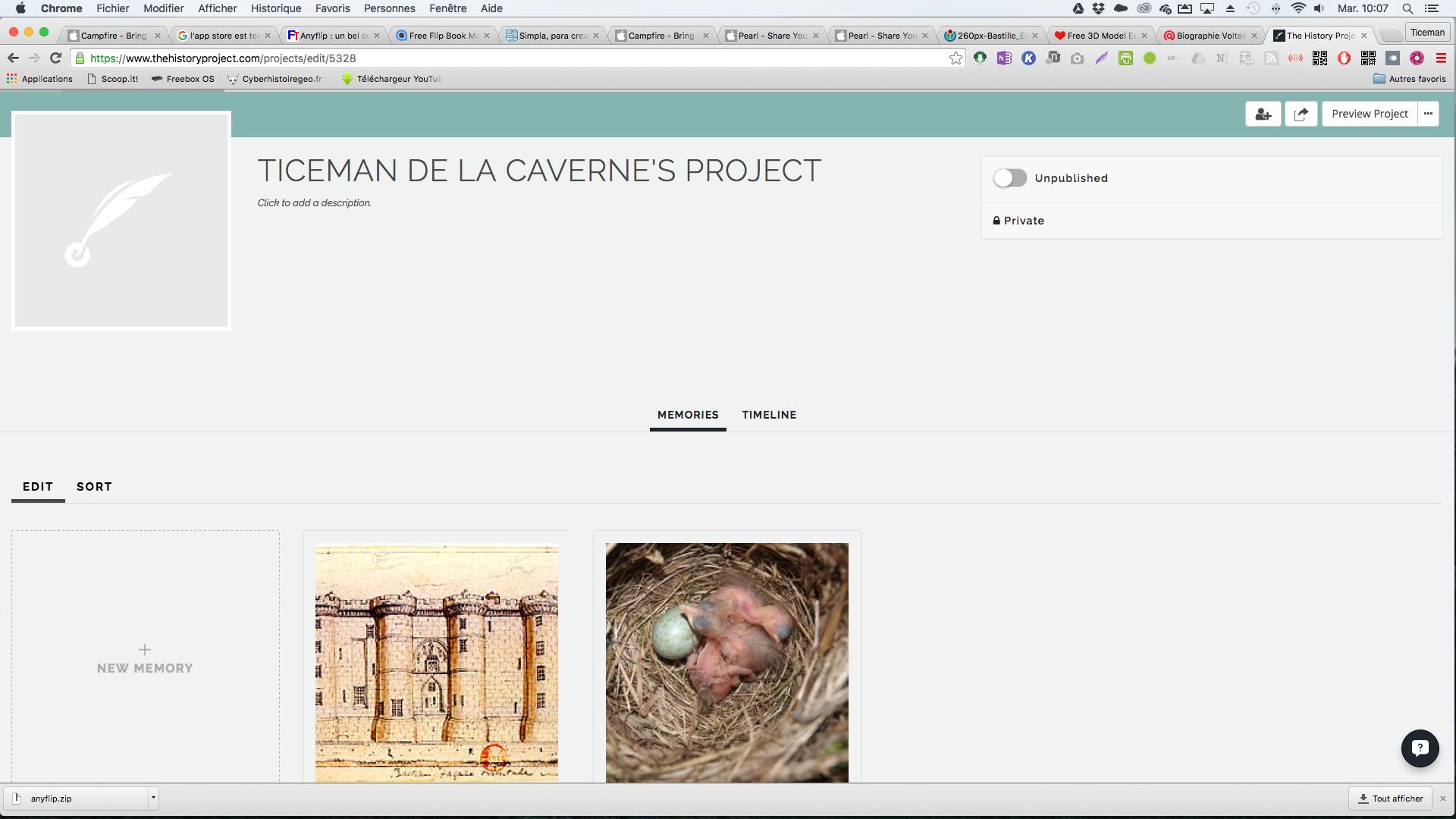 The History project: une autre façon de concevoir des frises chronologiques dynamiques