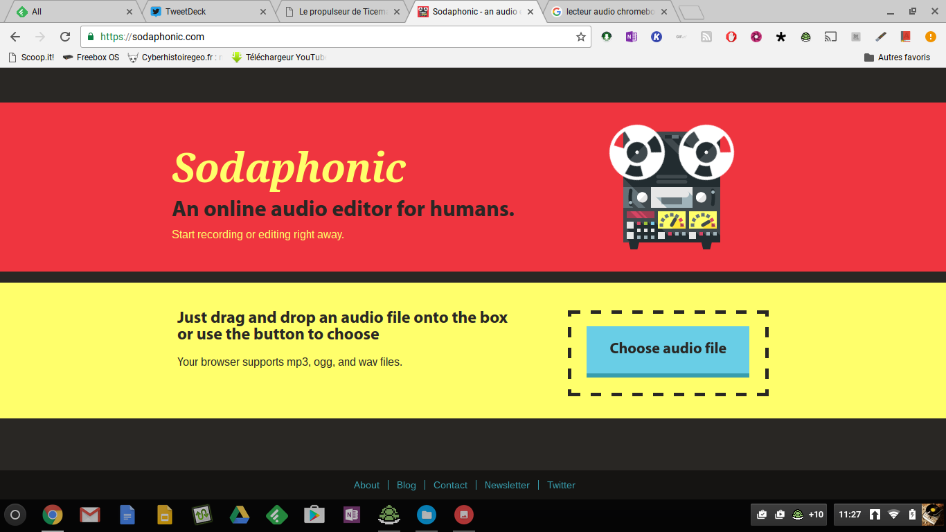 sodaphonic un editeur audio en ligne et sans inscription le coutelas de ticeman. Black Bedroom Furniture Sets. Home Design Ideas
