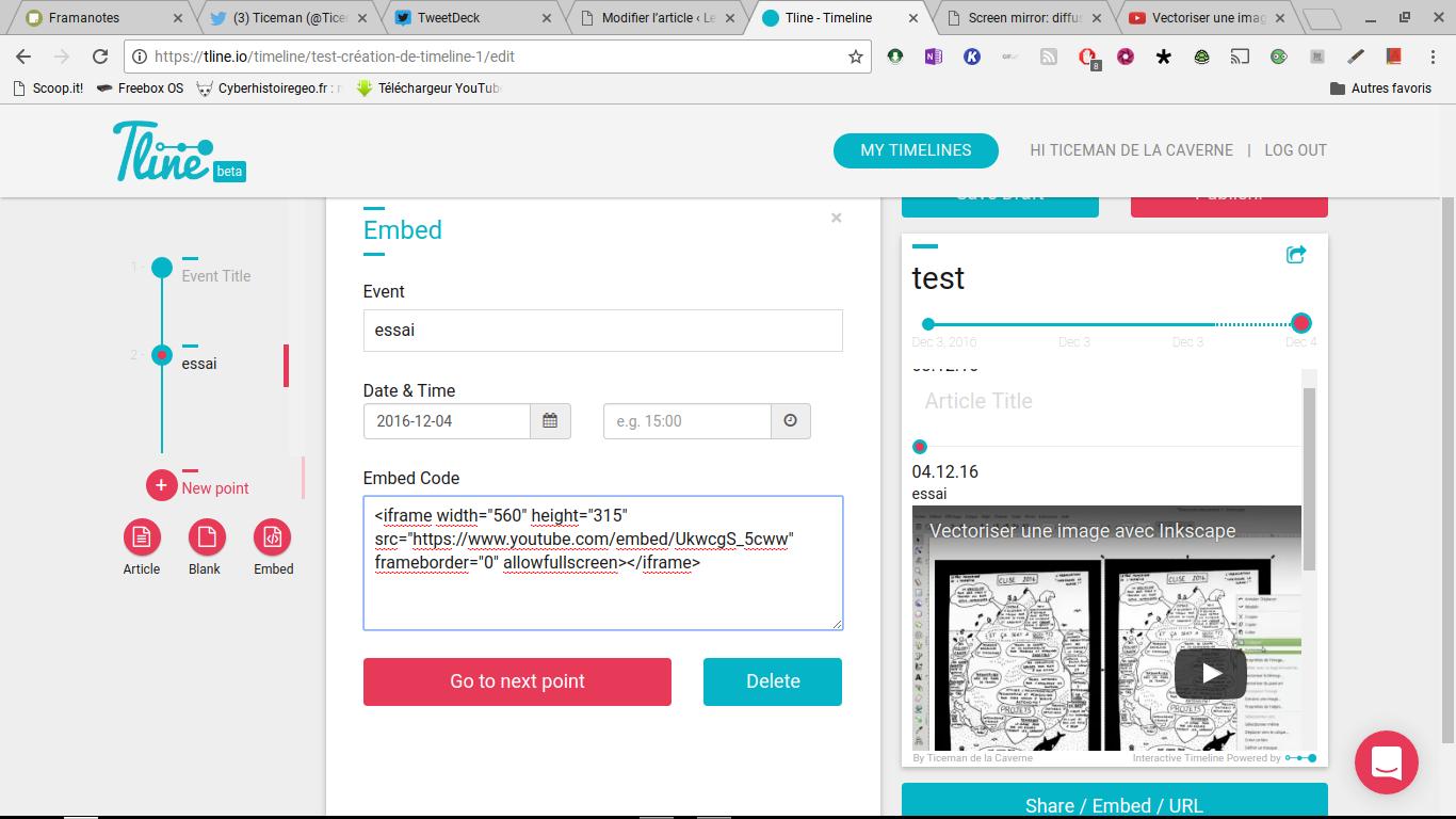 Tline: créer des frises chronologiques modernes à partir d'éléments du web