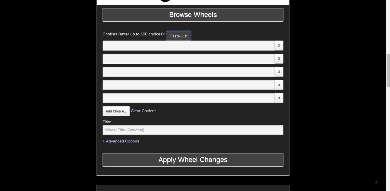 Wheeldecide: un système de tirage au sort très simple à mettre en oeuvre