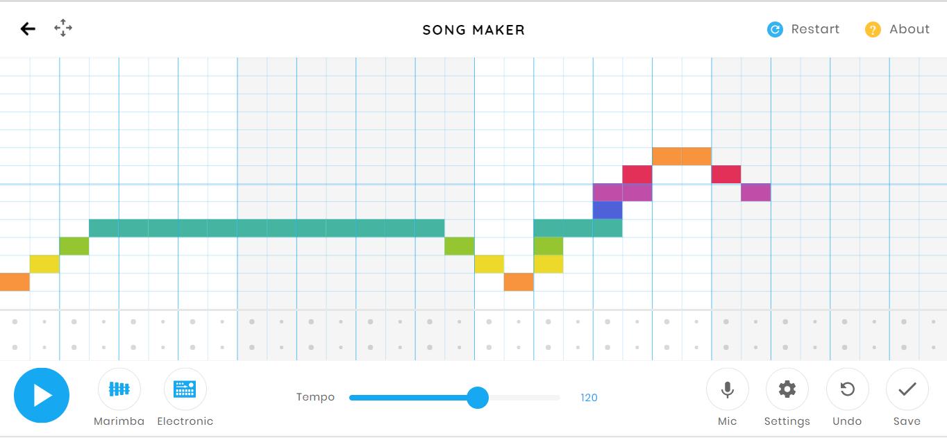 Song Maker: créer de la musique graphiquement dans votre navigateur