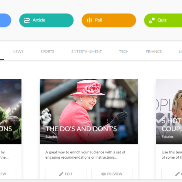 Apester Story Builder: présentations façon réseaux sociaux, quiz et sondages