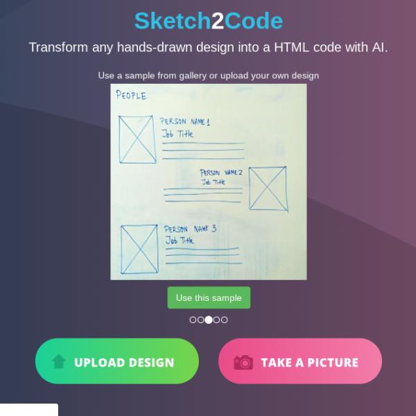 Sketch2Code: créez vos sites web en les dessinant