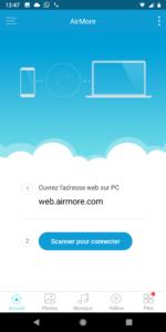 Airmore: transférer vos fichiers et afficher l'écran de votre appareil Android sur n'importe quel appareil.