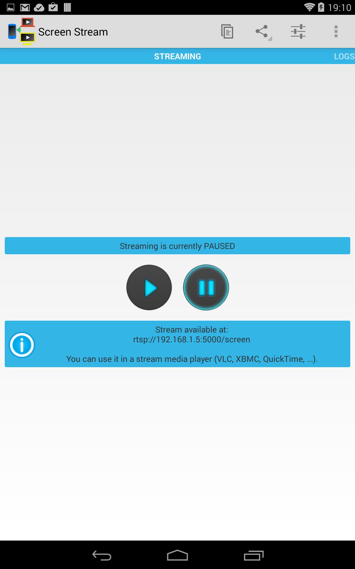 screen stream afficher l cran de votre android sur n importe quel pc win mac linux fa on. Black Bedroom Furniture Sets. Home Design Ideas