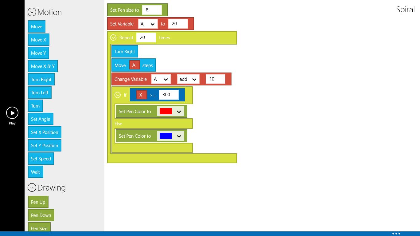 Turtle: Un clone de scratch pour apprendre des rudiments de code sous Windows 8.1