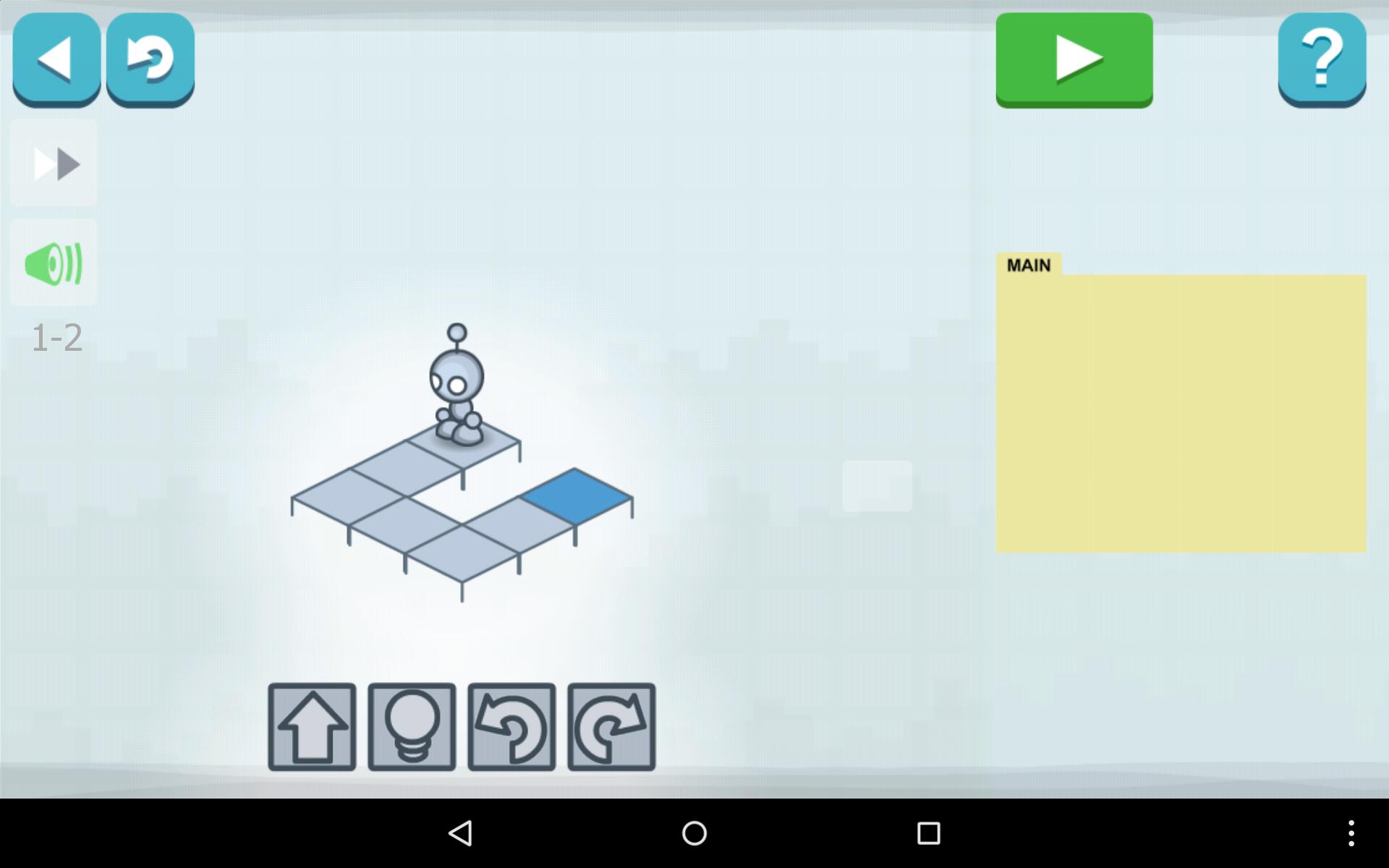 lightbot un jeu tr s sympa pour android ios windows et mac pour s initier la programmation. Black Bedroom Furniture Sets. Home Design Ideas