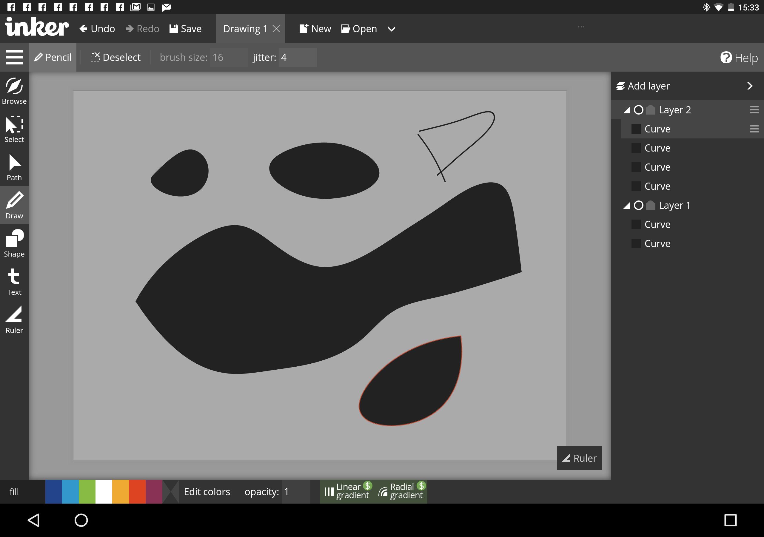 Appli Pour Dessiner Sur Les Photos inker: une bonne application de dessin vectoriel pour android (et