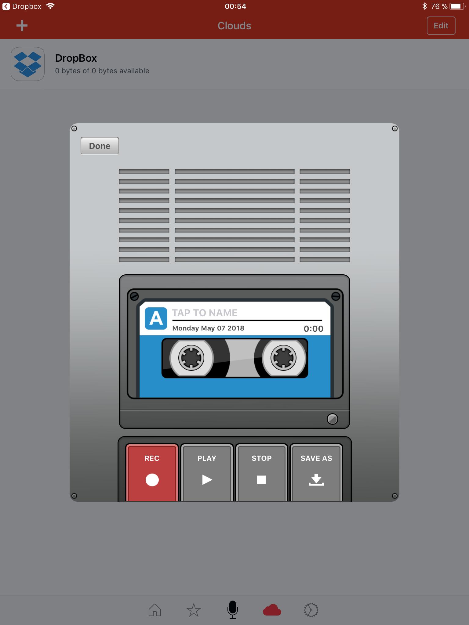 Voice Recorder & Audio Editor: comme son nom l'indique (iPad)