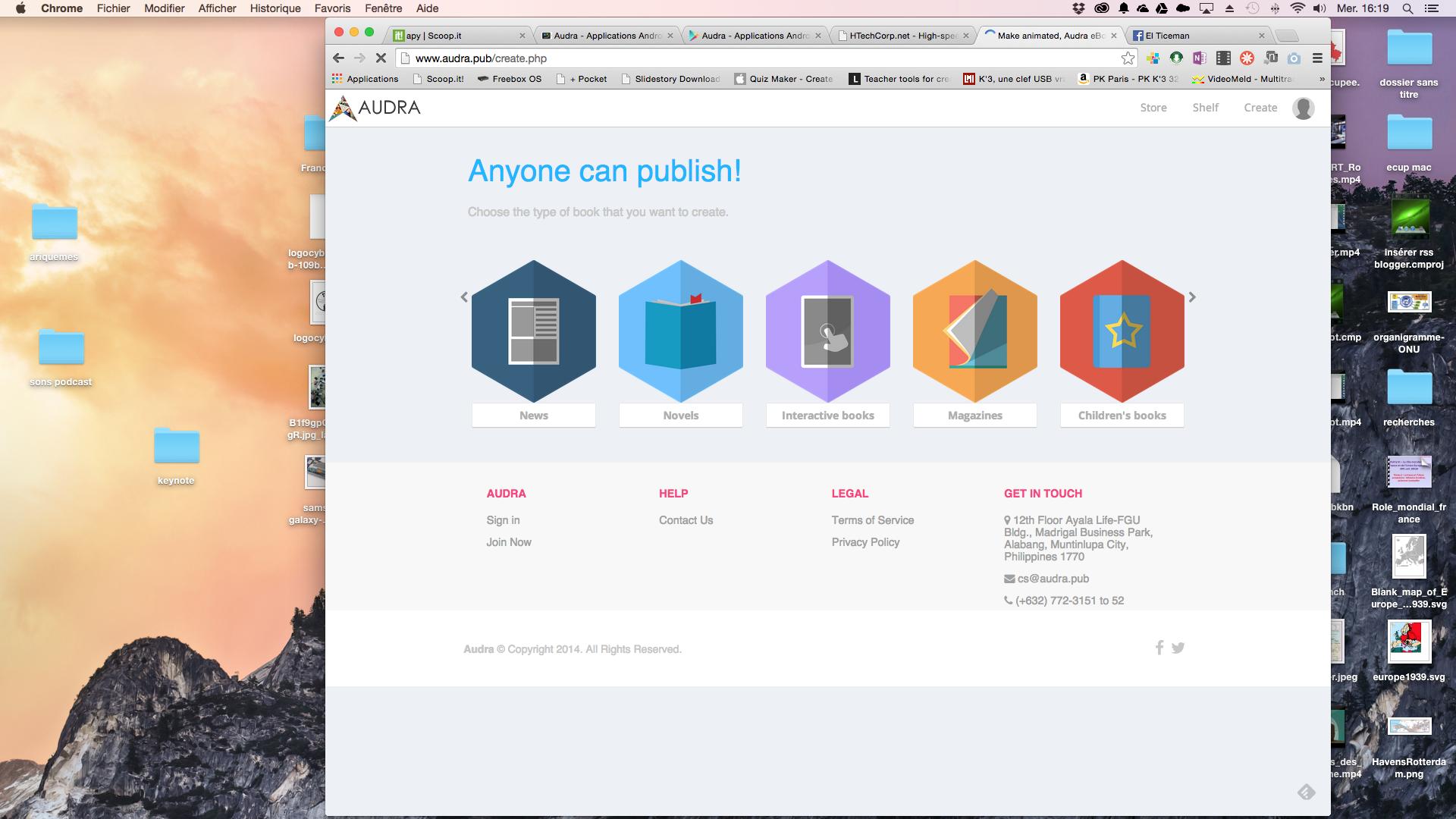 Audra: Créer des ebooks interactifs, des catalogues etc, gratuitement (epub3)