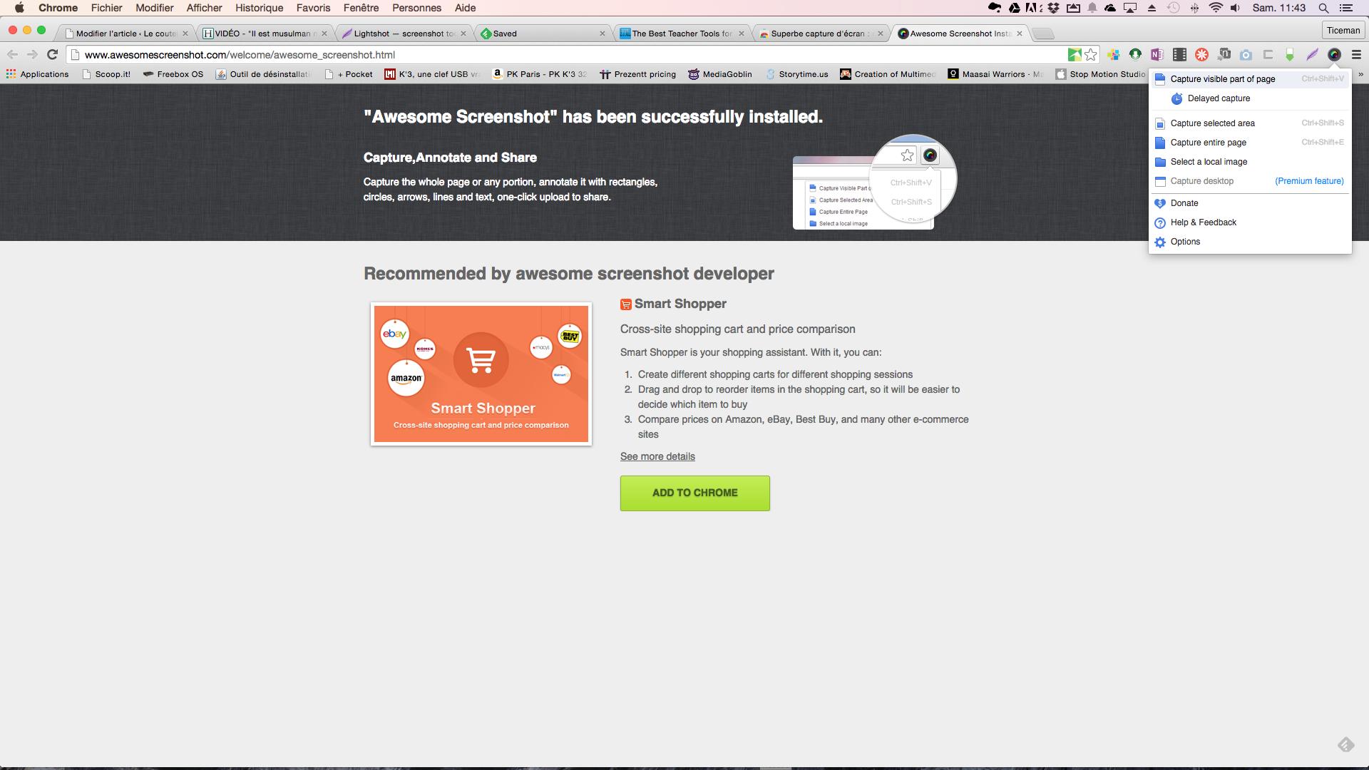 Awesome Screenshot: copies d'écran et annotations en direct pour chrome, firefox et Safari