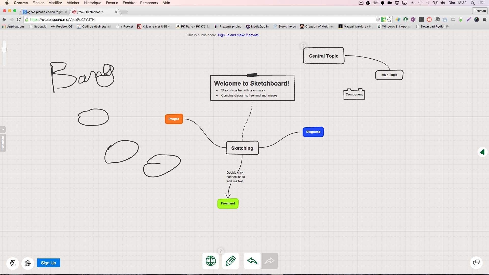 Stechboard.io: un tableau blanc collaboratif pour dessiner, faire des cartes mentales, des schéma etc...