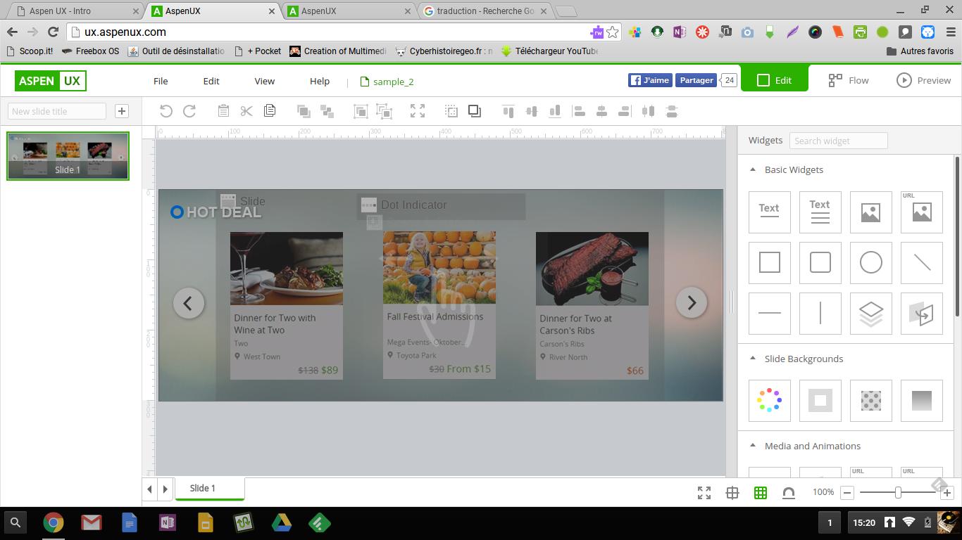 Aspenux: web doc, bannières animées, présentations, jeux, tout ce que vous voulez en html5