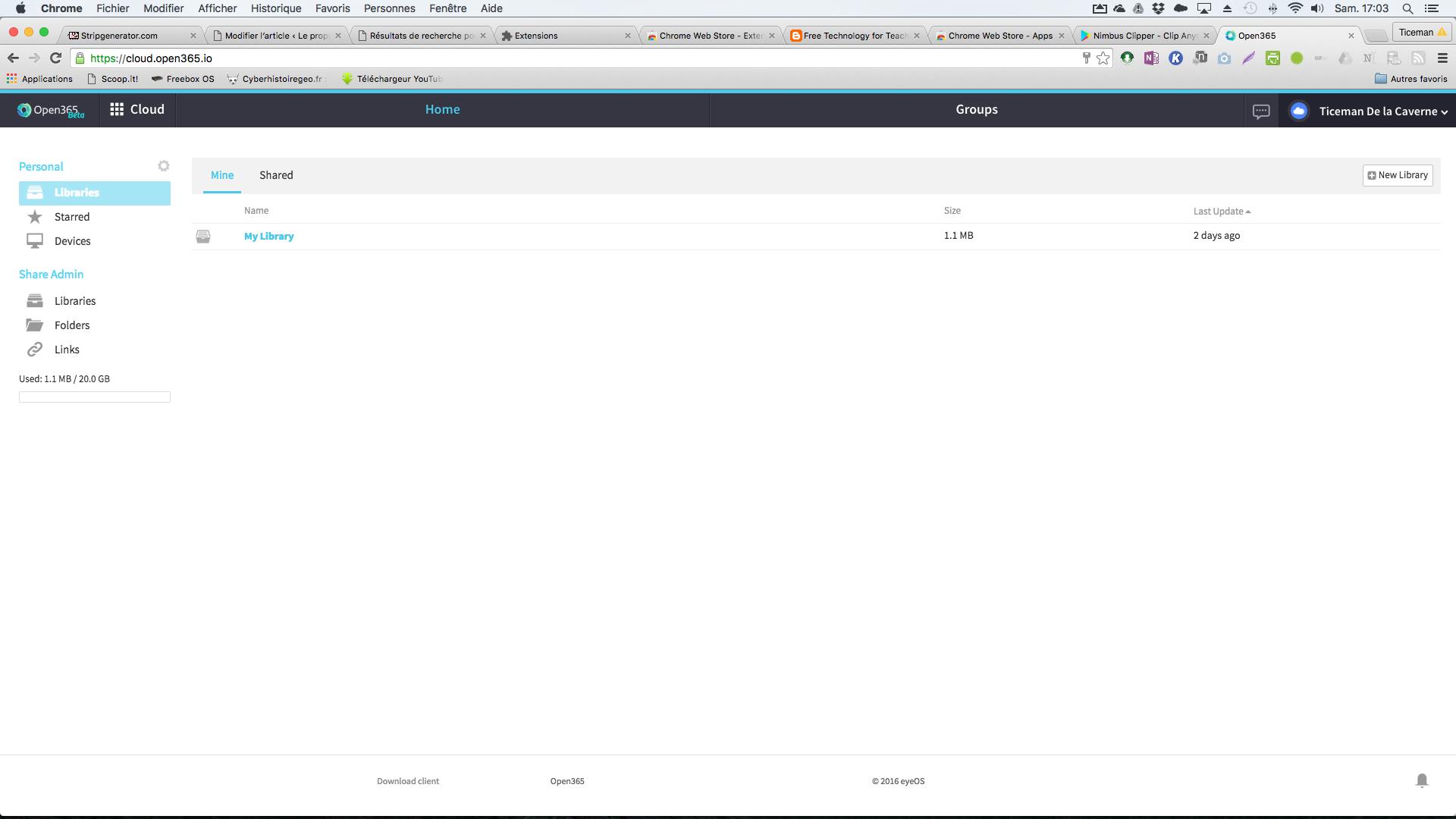 Open365.io: libre office dans les nuages avec 20 Go d'espace de stockage