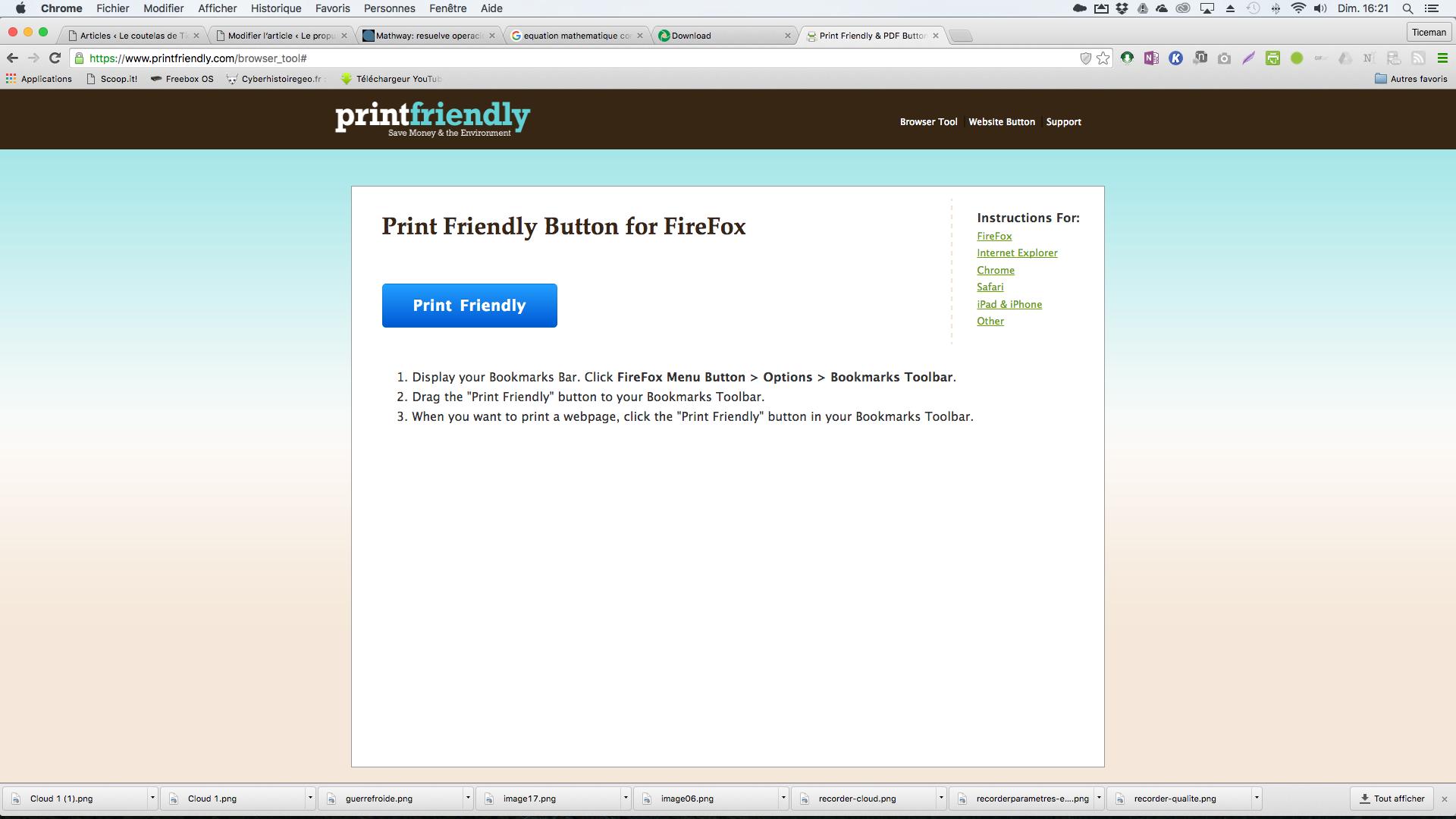 Print friendly: enregistrer n'importe quelle page web en pdf depuis votre navigateur