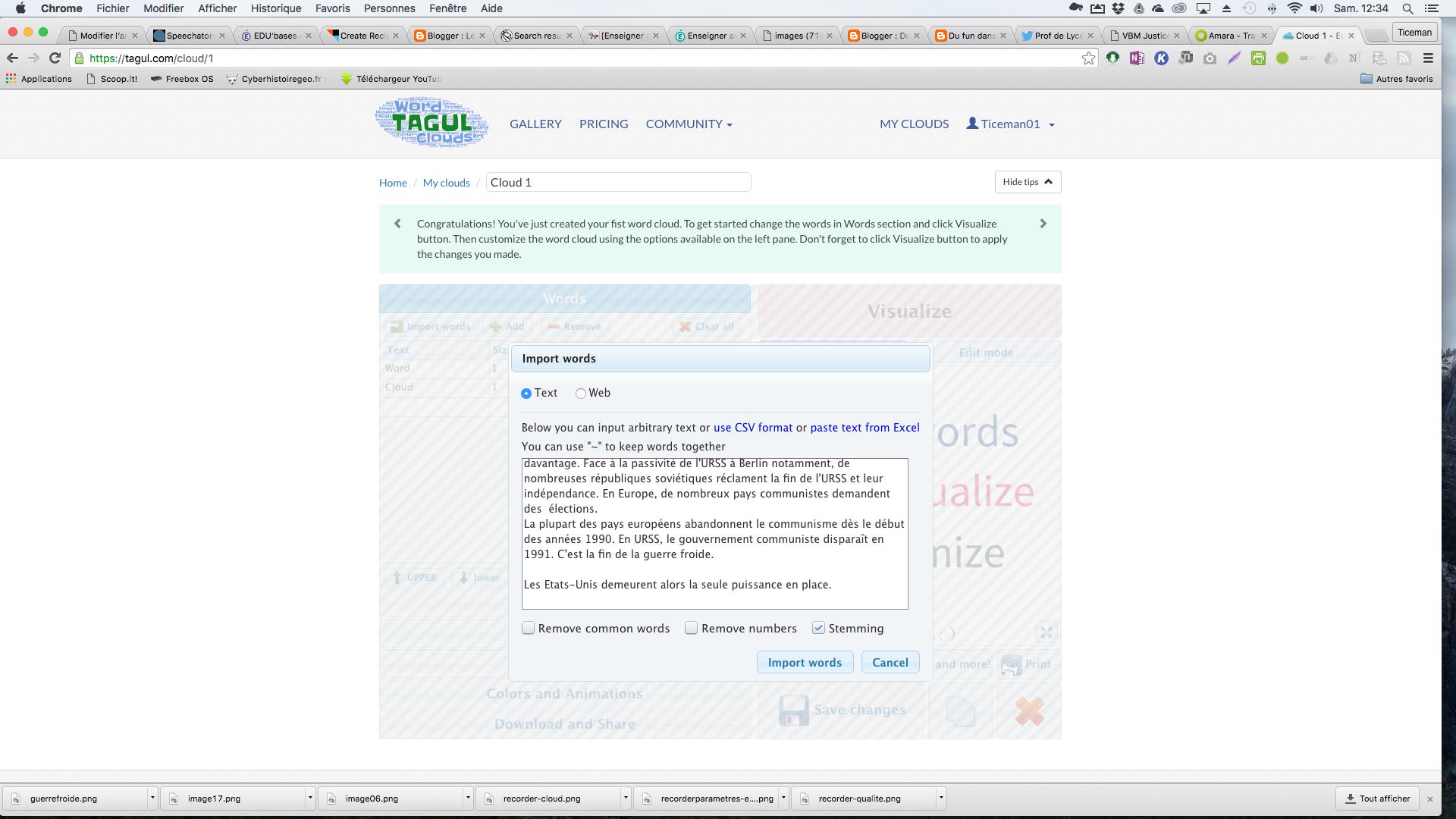 Tagul: créer des nuages de mots en ligne avec des formes personnalisables
