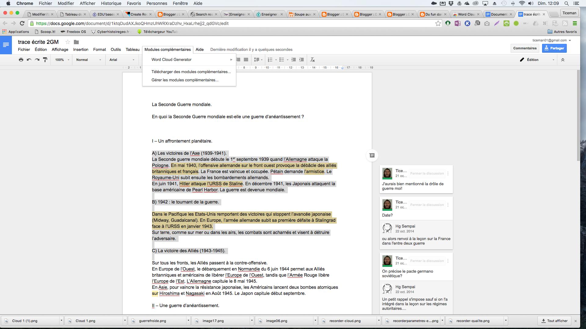 Word cloud generator: vos nuages de mots directement dans google doc