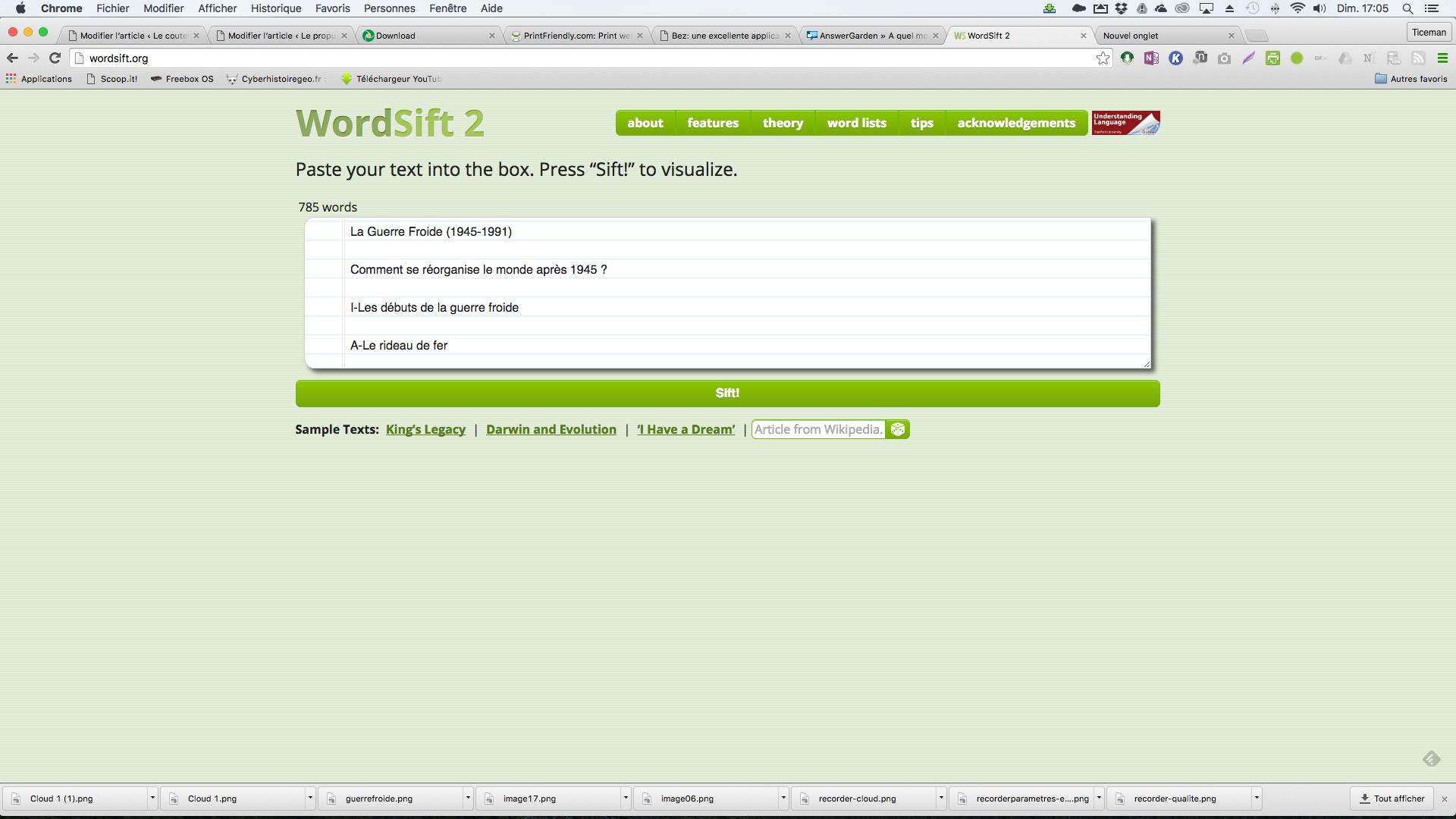 Wordsift 2: une excellente solution en ligne pour générer des nuages de mots