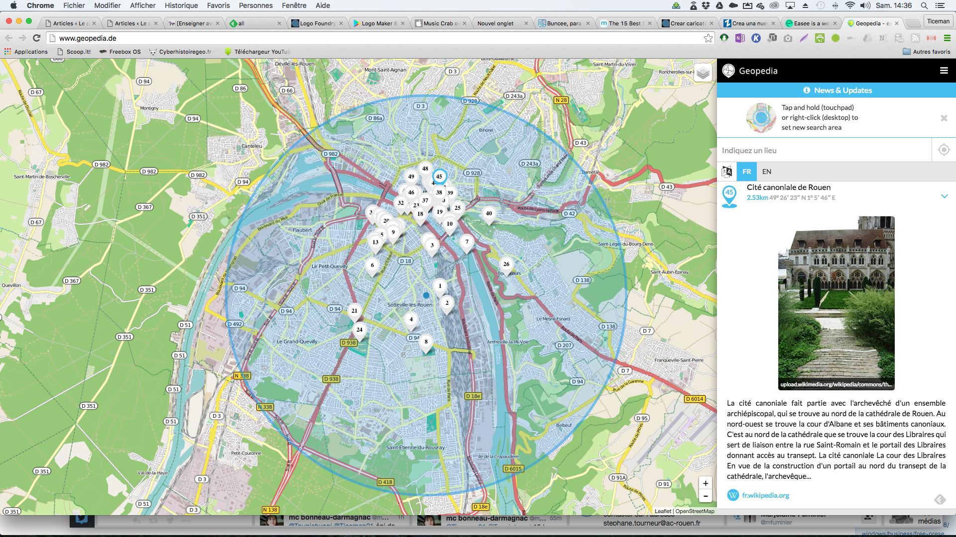 Geopedia: un mix parfait entre openstreet map et Wikipedia