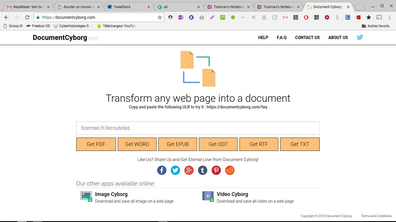 Document cyborg: enregistrez vos pages web sous différents formats