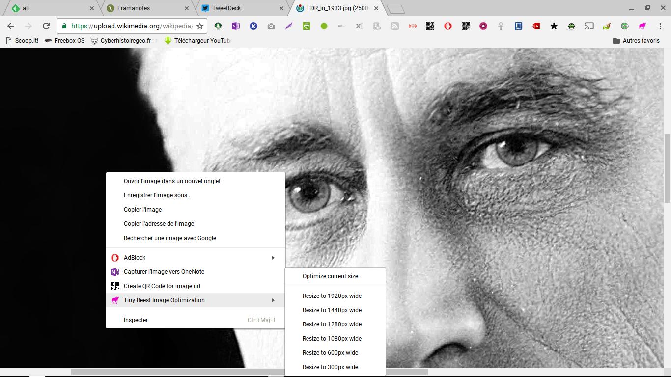 Tiny Beest image optimisation: téléchargez directement vos images à la résolution souhaitée