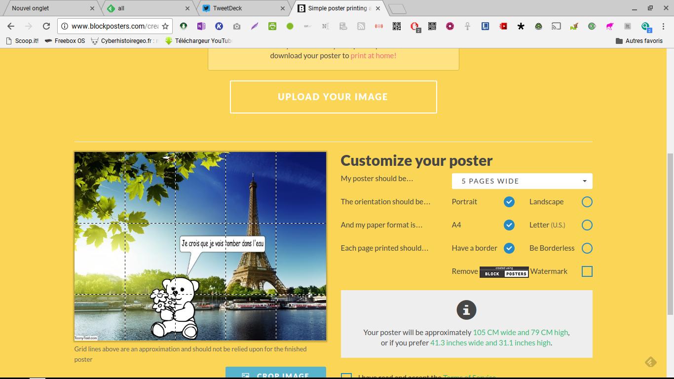 Blockposter: Créer des posters à partir de vos images