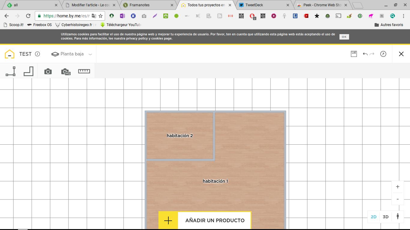 Homebyme: Créer des plans d'habitation en deux dimensions et visualisez-les en trois dimensions