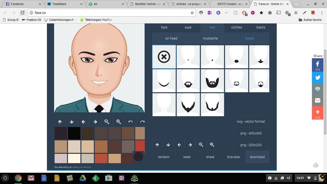Face.co: créer des avatars en quelques clics