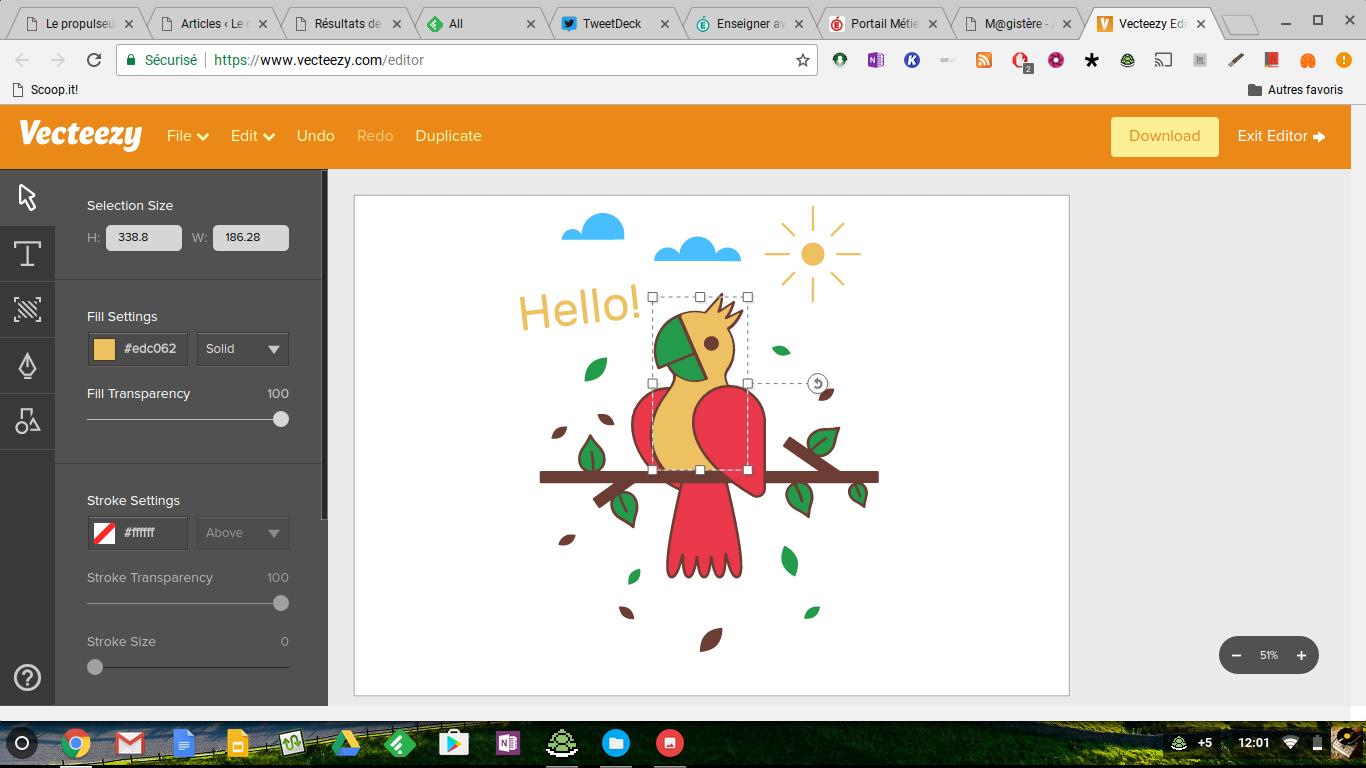 Vecteezy: un très bon éditeur de dessin vectoriel en ligne et sans inscription