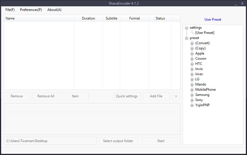 Shanaencoder: un excellent logiciel windows pour convertir vos fichiers audio et vidéo