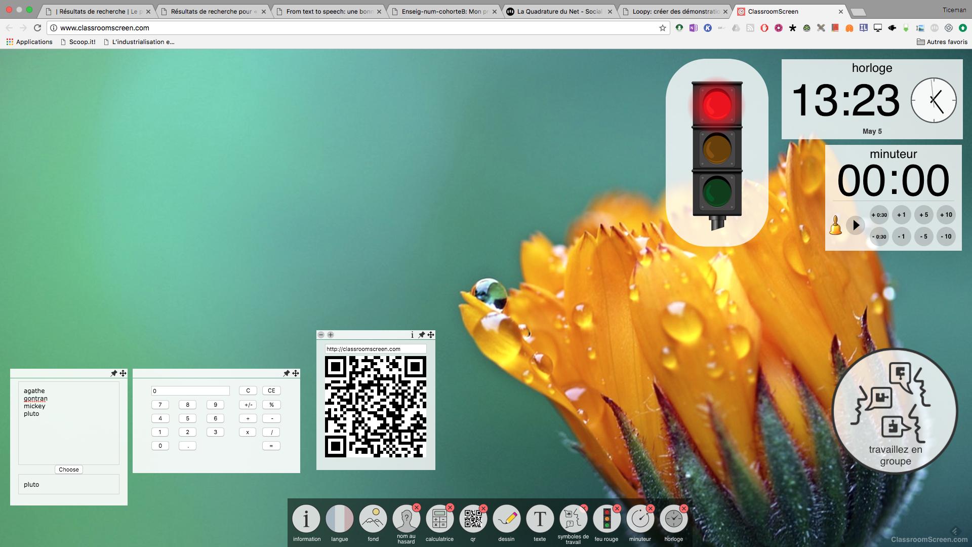 ClassroomScreen: dynamiser l'écran projeté en classe avec de nombreux outils