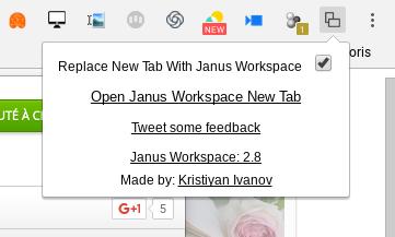 Janus Workspace: afficher plusieurs sites simultanément dans un seul onglet (chrome)