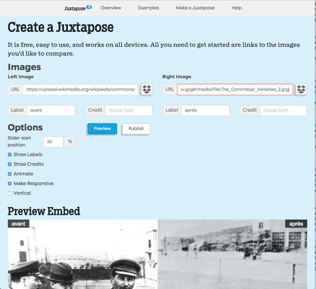 Juxtapose JS: juxtaposer des photographies pour les comparer