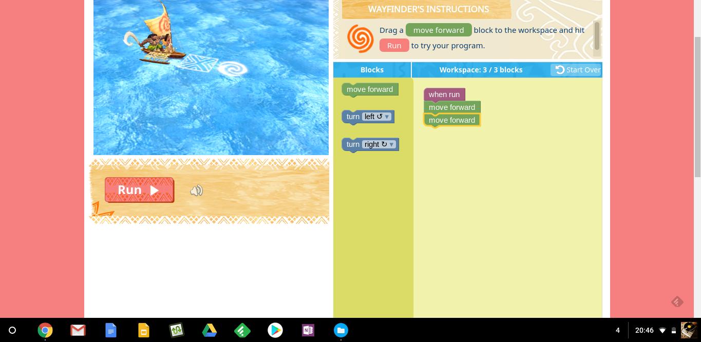 Moana Code: un jeu en ligne pour s'initier à la programmation