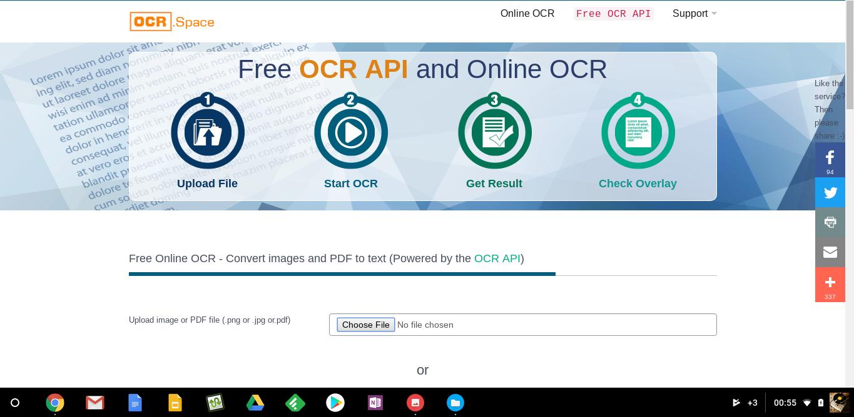 OCR space: une solution de reconnaissance de caractère en ligne