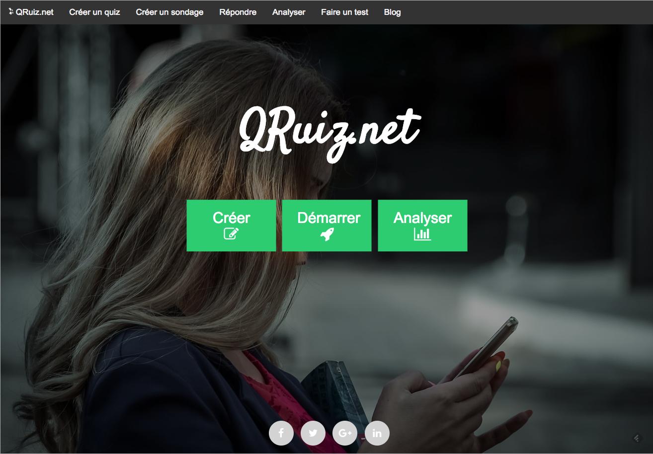 Qruiz: quiz et sondages avec collecte de résultats, sans inscriptions