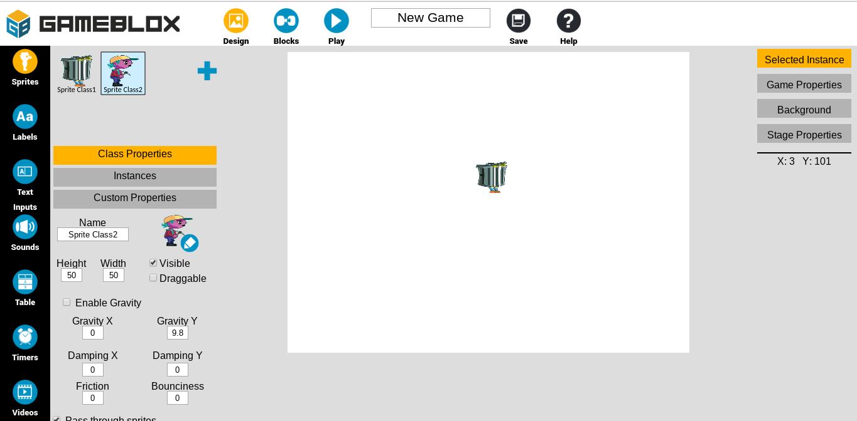 Gameblox : créer des jeux jouables en ligne ou sur tablette en les programmant façon scratch