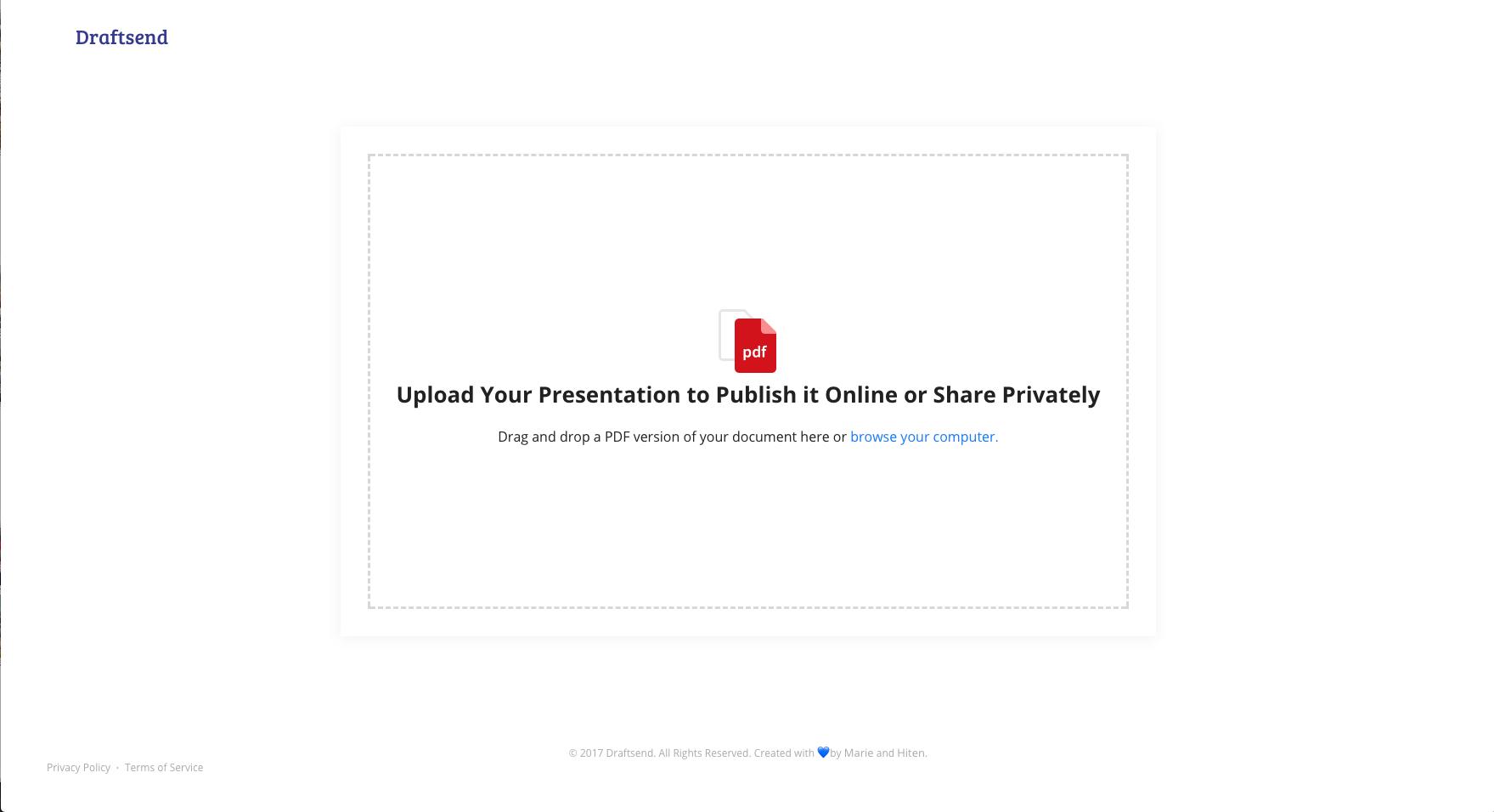 draftsend: réalisez vos capsules vidéos simplement en commentant vos pdf