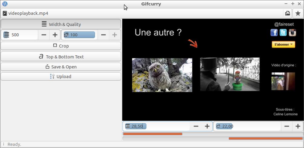 Gifcurry: créez vos propres gifs animés à partir de vos vidéos