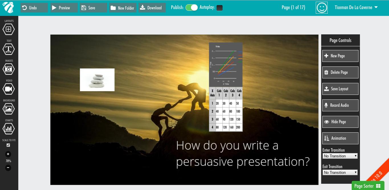 Presbee: présentations, vidéos, infographies, poster, bannières, l'outil à tout faire