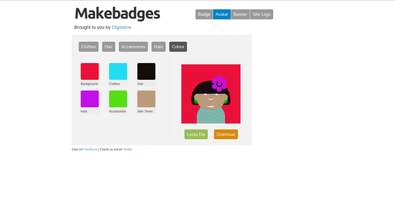 Makebadges: badges, avatars, bannières et logos en 3 clics