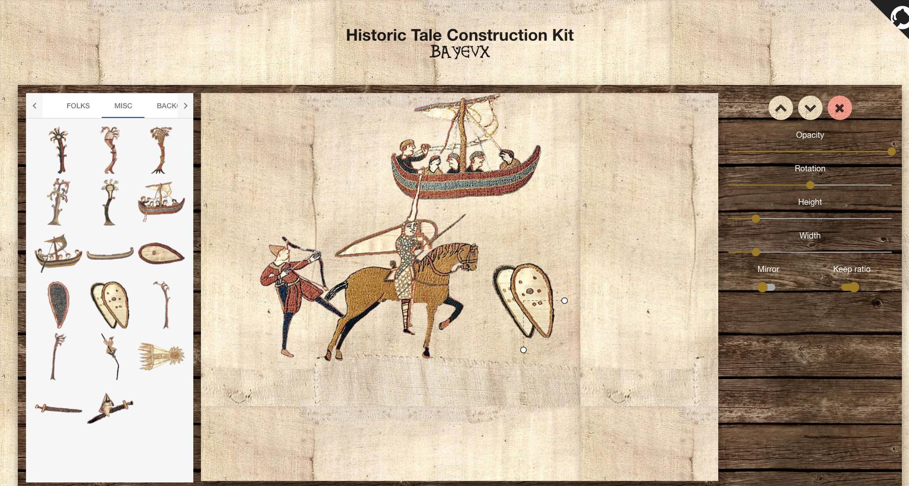 Historic Tale Construction Kit BAYEUX: détournez la tapisserie de Bayeux