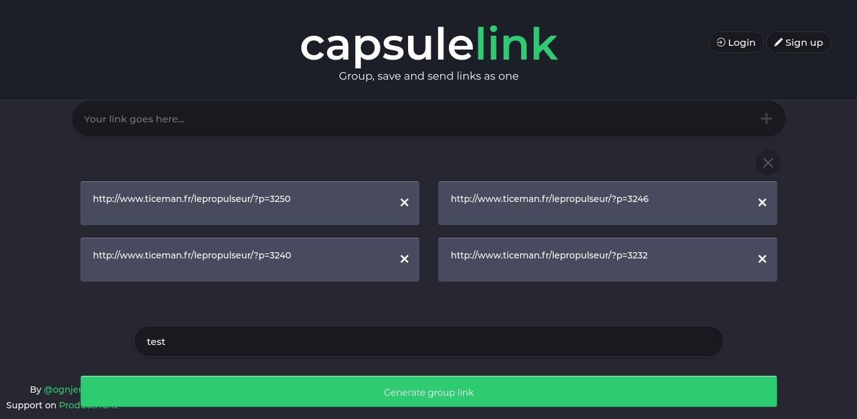 CapsuleLink: partagez plusieurs liens en un seul