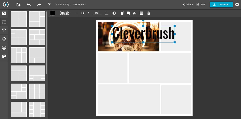 Cleverbrush: collages photo, infographies et poster à portée de tous