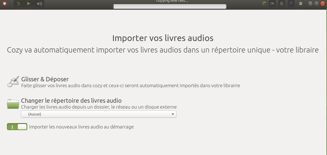 Cozy audiobook: une liseuse de livres audio pratique pour Linux