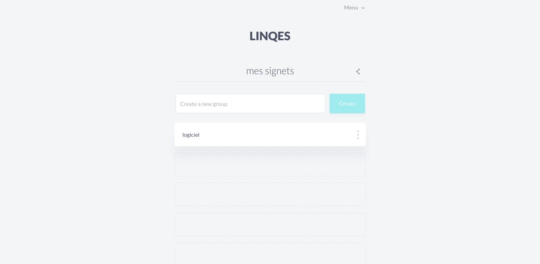 Linqes: partagez vos collections de liens avec une adresse unique